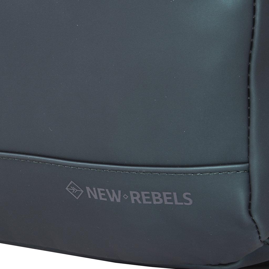 New-Rebels ® Harper - Backpack - Laptoptas - Rugtas - 9 Liter - 28x8x38 - Donker Groen