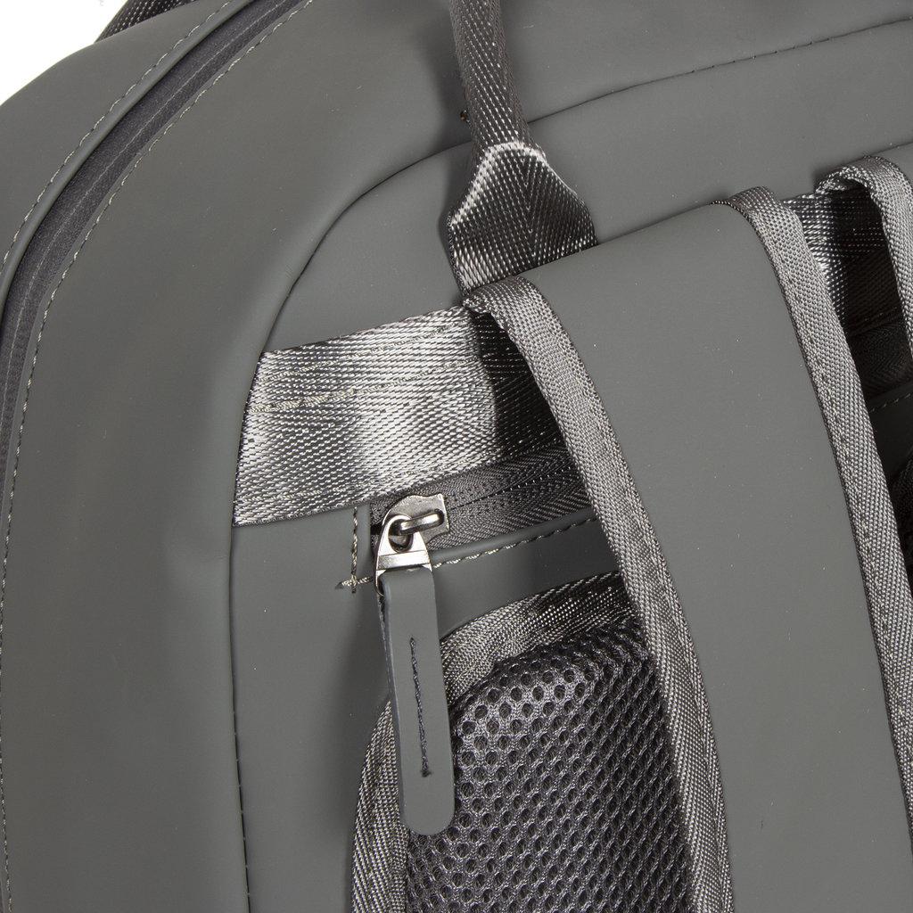 New-Rebels ® Harper - Backpack - Laptop compartiment - 9 Liter - 28x8x38 - Antracite Grey