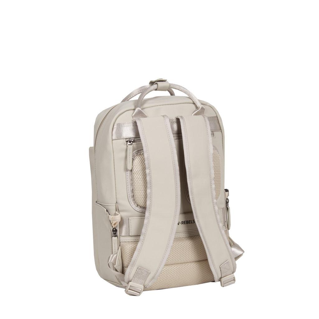 New-Rebels ® Harper - Backpack - Laptop compartiment - 9 Liter - 28x8x38 - Beige