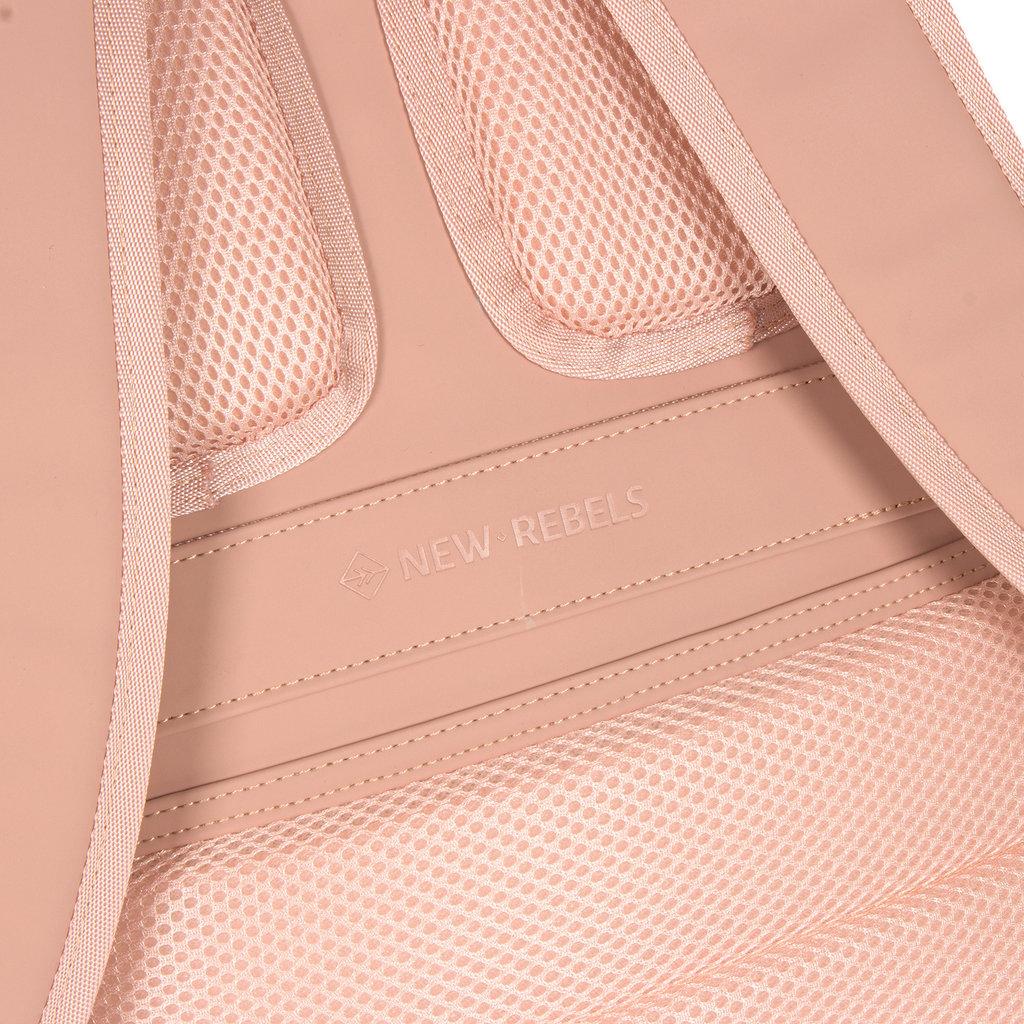 New-Rebels ® Harper - Backpack - Laptoptas - Rugtas - 12 Liter - 28x8x45cm - Oud Roze