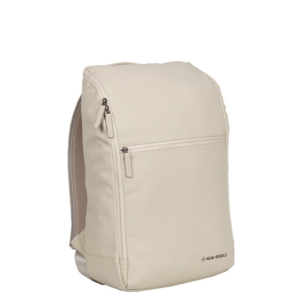 New-Rebels ® Harper - Backpack - Laptoptas - Rugtas - 18 Liter - 44x35x50cm - Beige