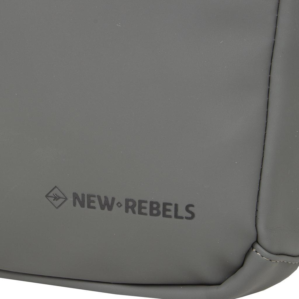 New-Rebels ® Harper - Backpack - Laptoptas - Rugtas - 12 Liter - 28x8x45 - Antraciet Grijs