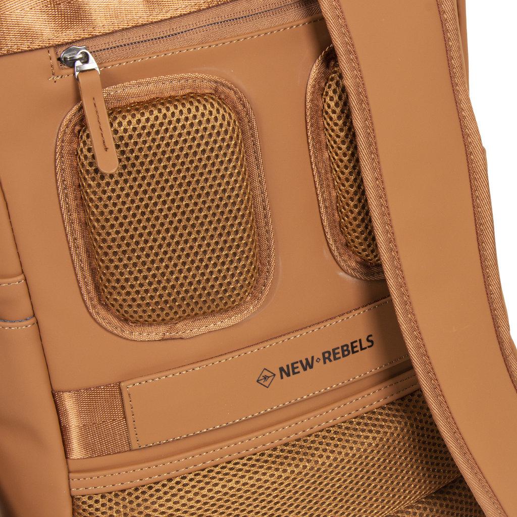 New-Rebels ® Harper - Backpack - Laptoptas - Rugtas - 12 Liter - 28x8x45 - Cognac