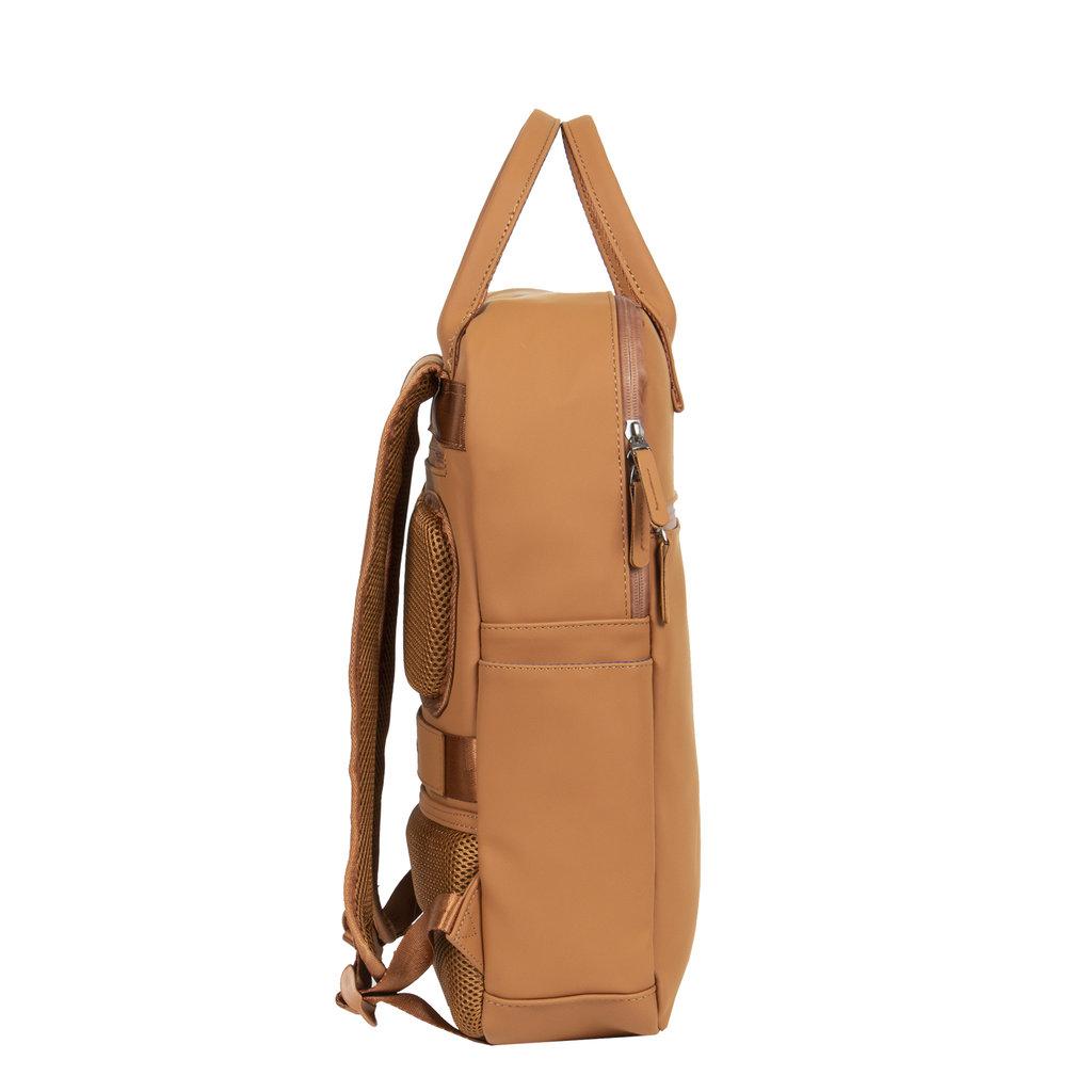 New-Rebels ® Harper - Backpack - Laptop compartiment - 12 Liter - 38x8x45 - Cognac