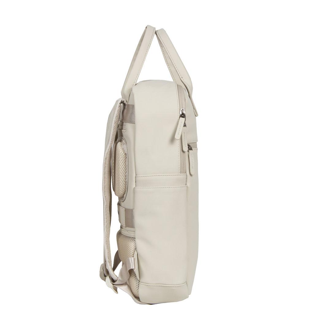 New-Rebels ® Harper - Backpack - Laptop compartiment - 12 Liter - 28x8x45 - Beige