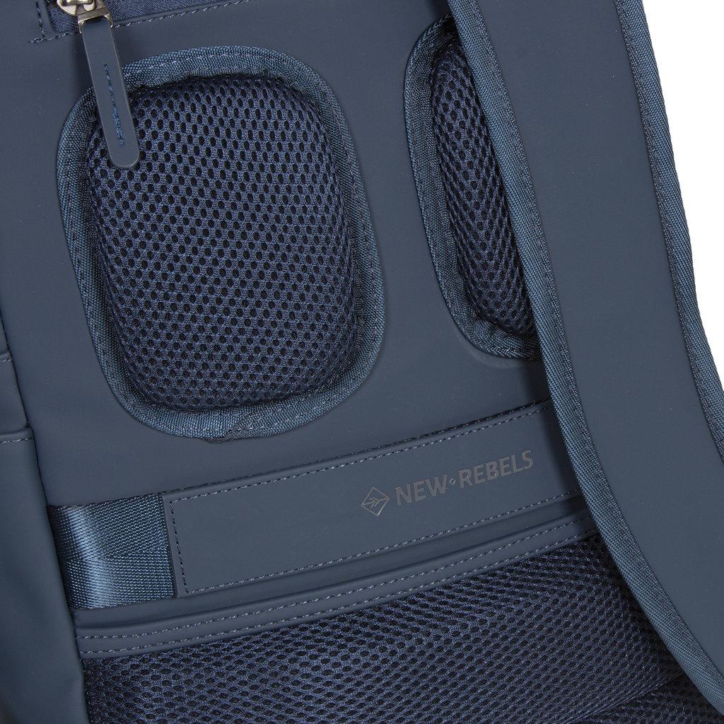 New-Rebels ® Harper - Backpack - Laptop compartiment - 12 Liter - 28x8x45 - Navy Blue