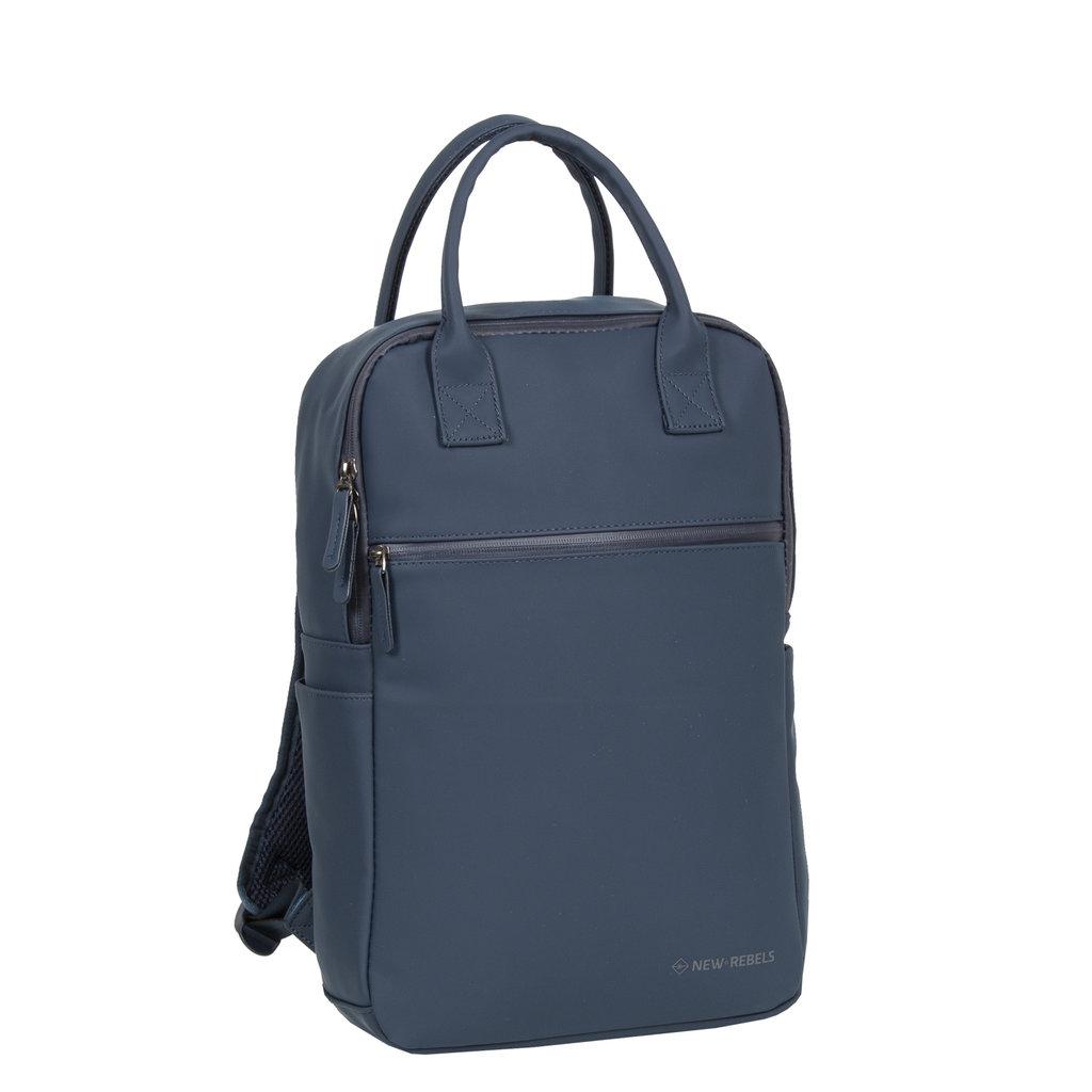 New-Rebels ® Harper - Backpack - Laptoptas - Rugtas - 12 Liter - 28x8x45 - Navy Blauw