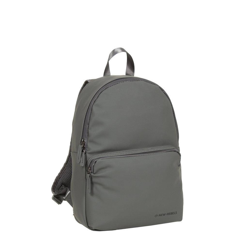 New-Rebels ® Harper - Backpack - Laptoptas - Rugtas - 11 Liter - 28x8x40 - Antraciet Grijs