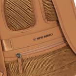 New-Rebels ® Harper - Backpack - Laptop compartiment - 11 Liter - 28x8x40 - Cognac