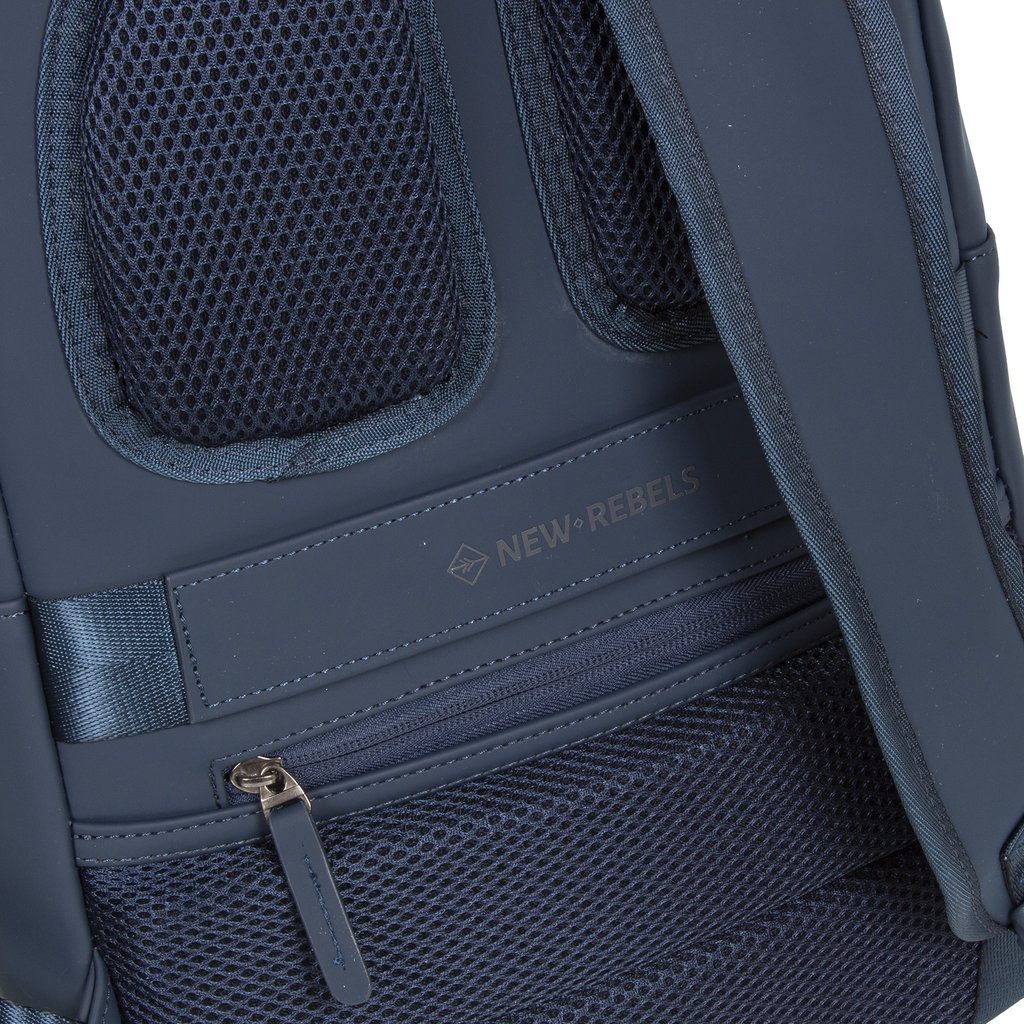 New-Rebels ® Harper - Backpack - Laptoptas - Rugtas - 11 Liter - 28x8x40 - Navy Blauw