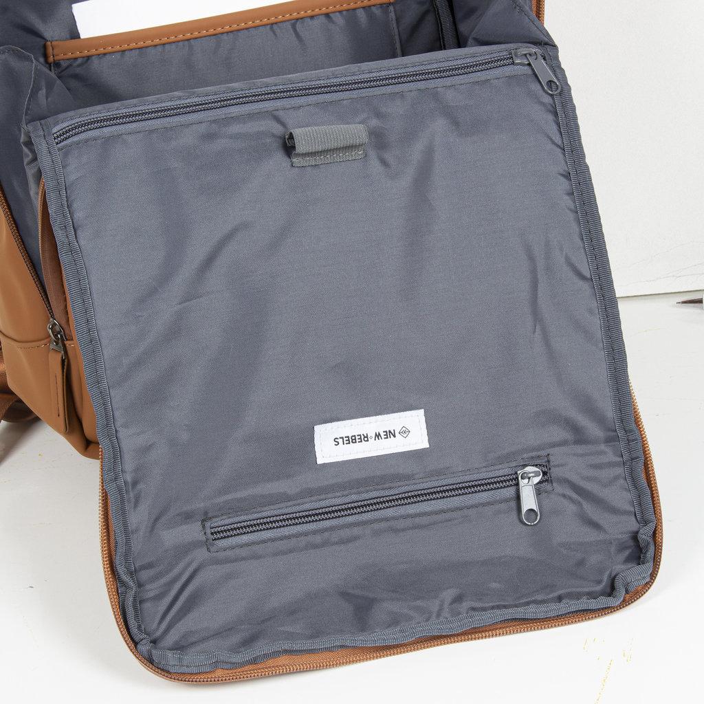 New-Rebels ® Harper - Backpack - Laptop compartiment  - 18 Liter - 44x35x50cm - Cognac