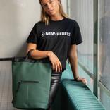New Rebels® Mart - Top Zip - Water-resistant -  Backpack - Laptop bag 13,3 Inch. - Shopper - 30x15x44cm - Dark Green