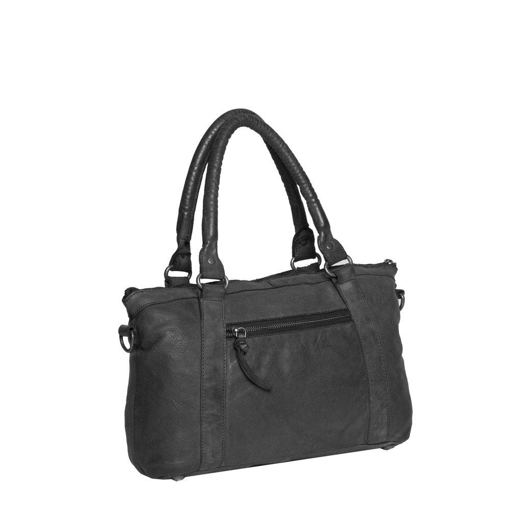 Saira Front Zip Handbag Black IX