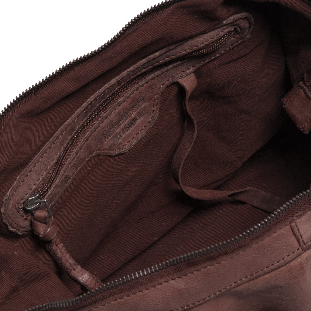 Saira Front Zip Handbag Brown IX