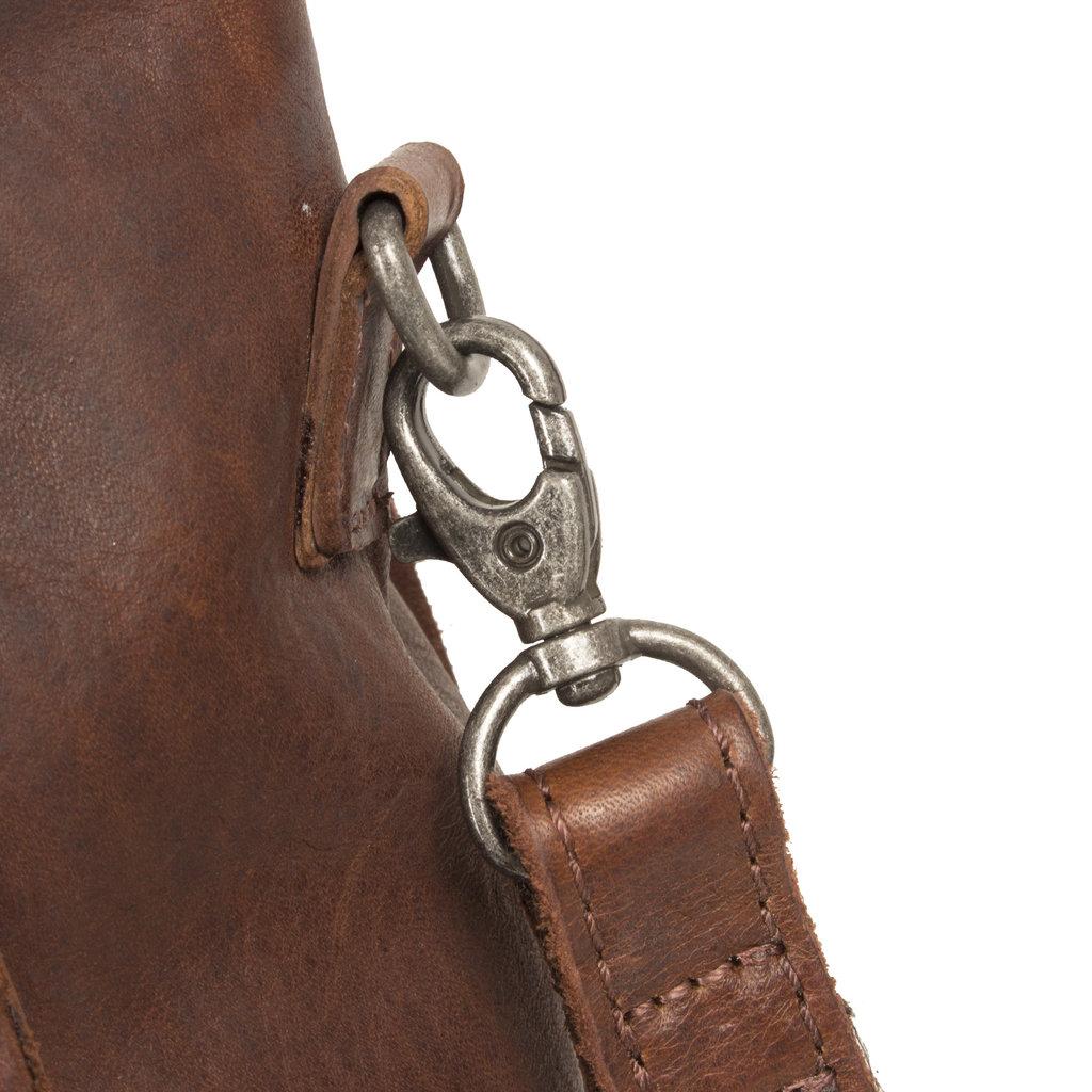 Justified Nynke - Leren Shopper Tas - Laptoptas 15,6 Inch - Bruin