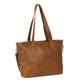 Justified Bags®  Nynke Big Shopper Leer Long Cognac