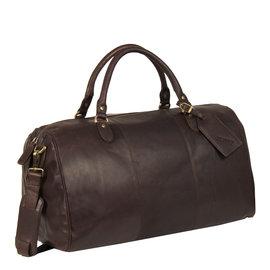 Justified Bags® - Max Duffel -  Weekendtas - Reistas - 43L - Leer - Bruin