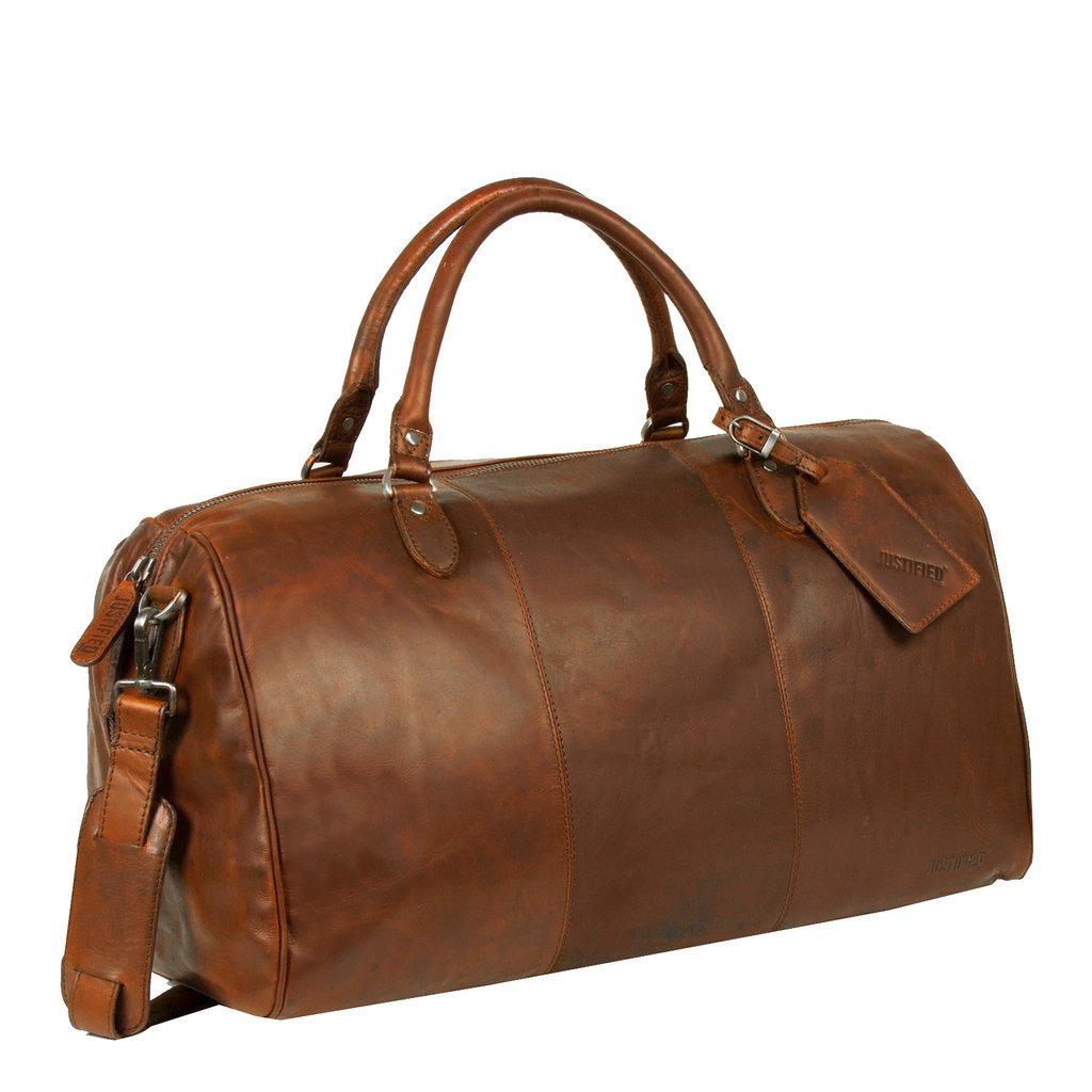 Justified Bags® - Max Duffel - Weekendtas - Reistas - 43 L - Cognac