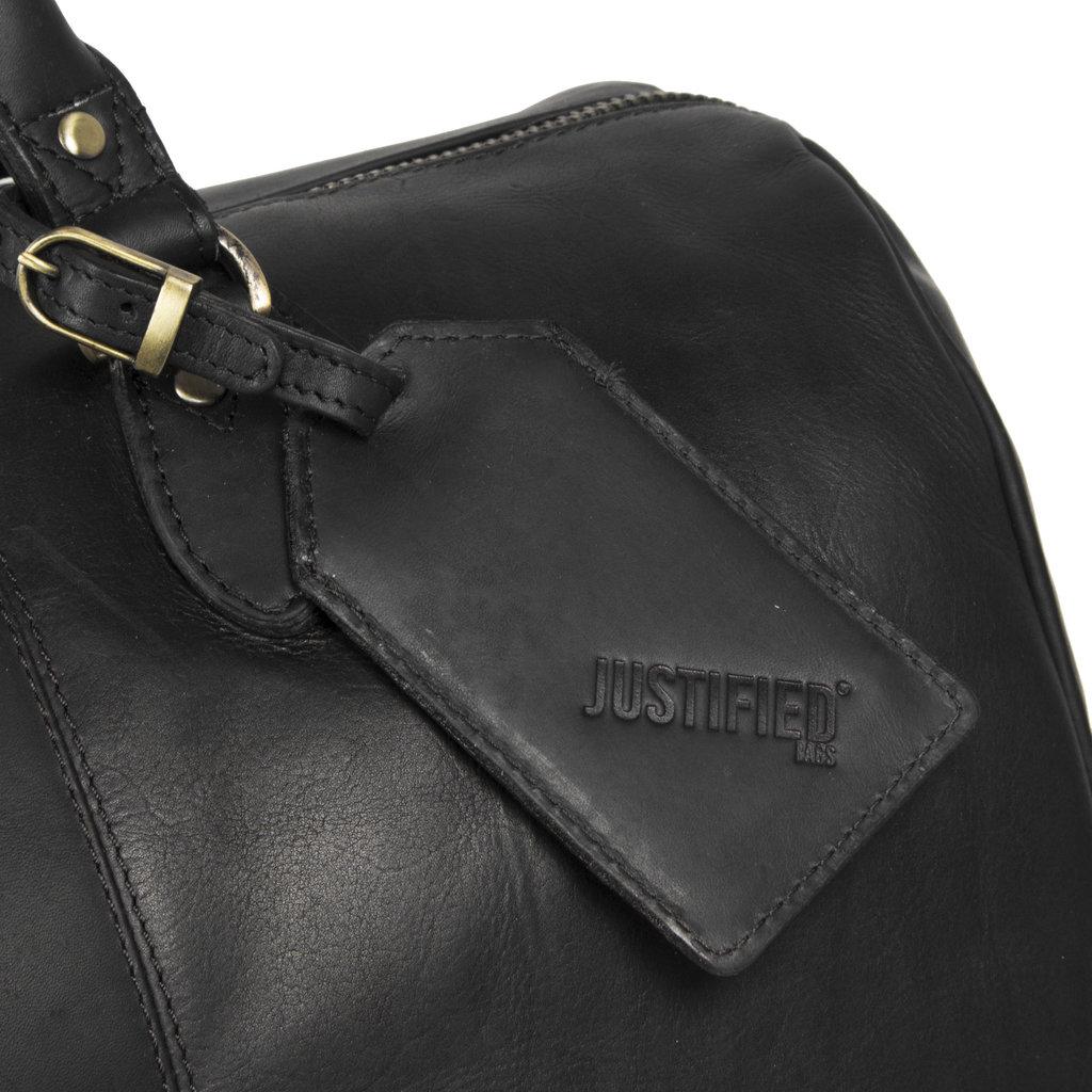 Justified Bags® - Max Duffel -  Weekendtas - Reistas - 43L - Leer - Zwart