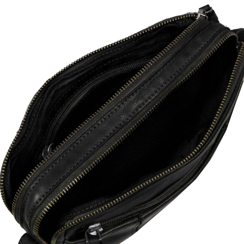 Saira Shoulderbag Top Zip & Front Zip Black IV