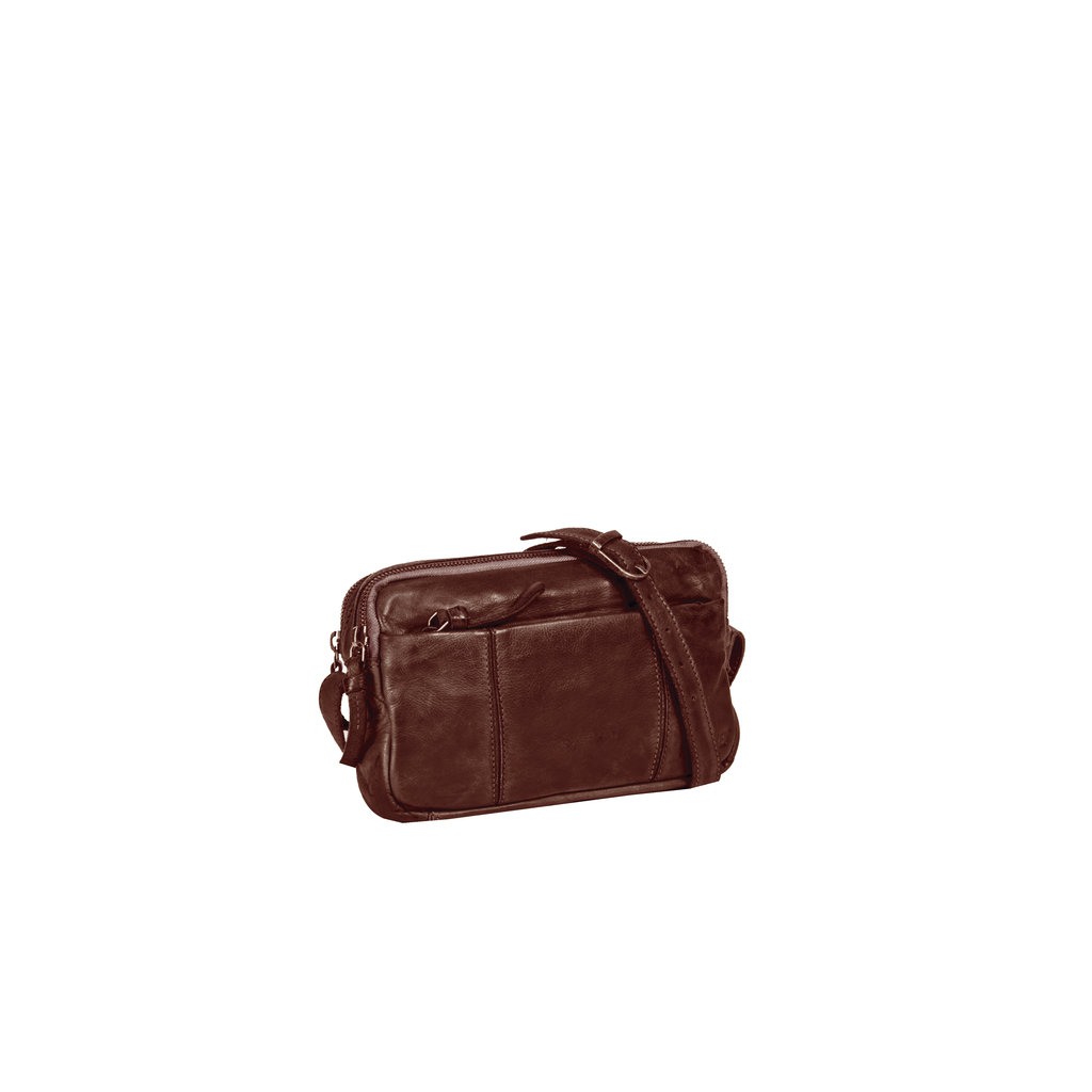 Saira Shoulderbag Top Zip & Front Zip Brown IV