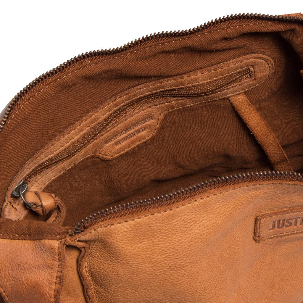 Saira Big Shoulderbag Top Zip Cognac V