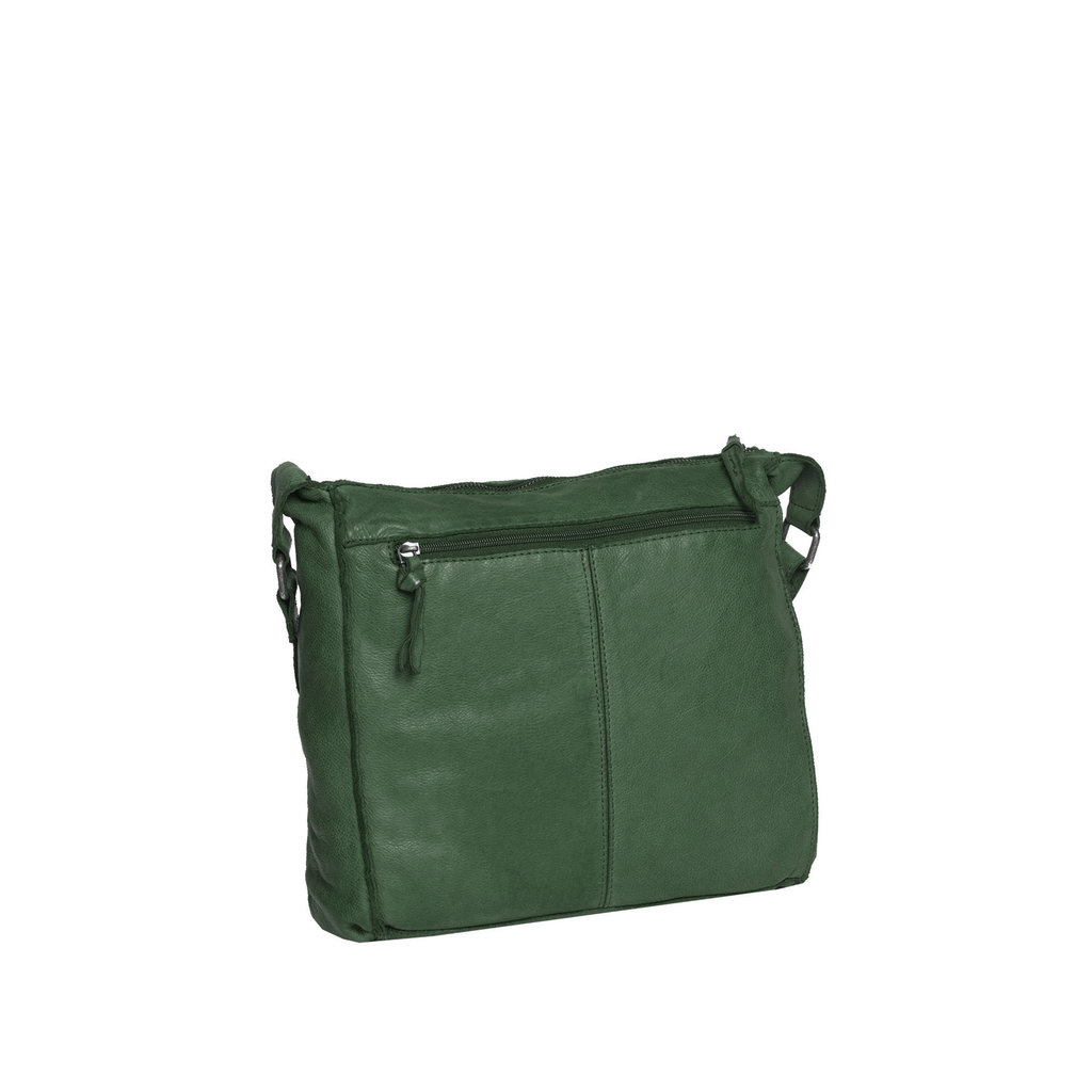 Saira Big Shoulderbag Top Zip Dark Green V