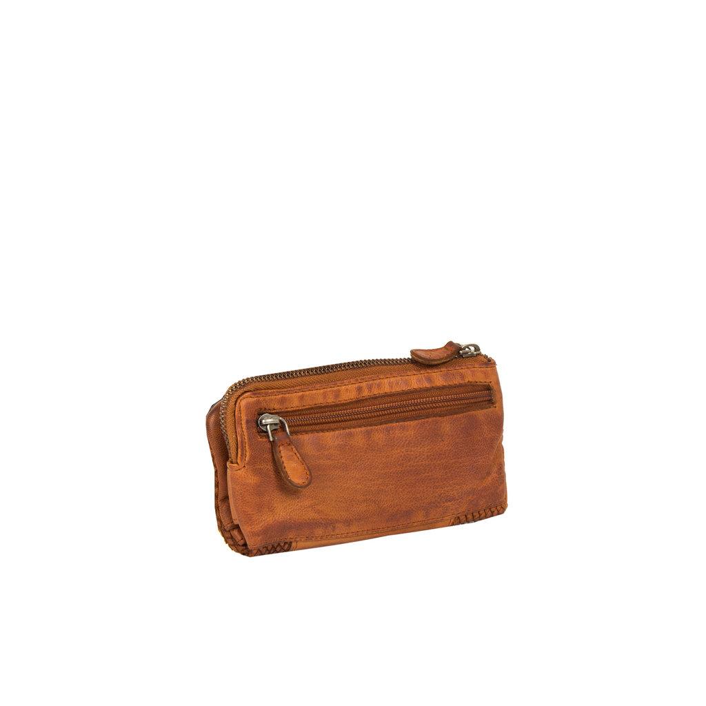 Justified® - Simone - Portemonnee- Wallet - Leer - Cognac