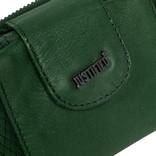 Justified® - Simone - Portemonnee- Wallet - Leer - Donkergroen