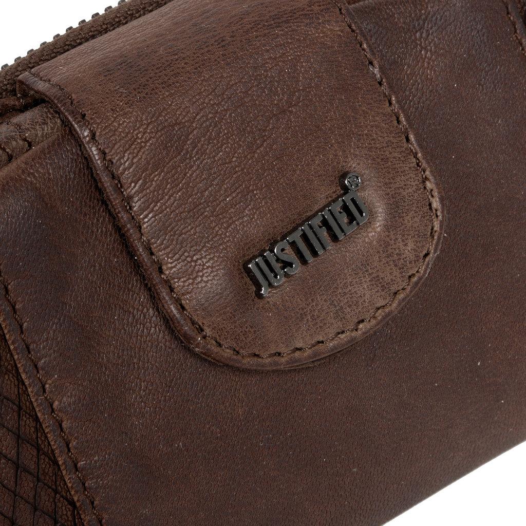 Justified® - Simone - Portemonnee- Wallet - Leer - Bruin