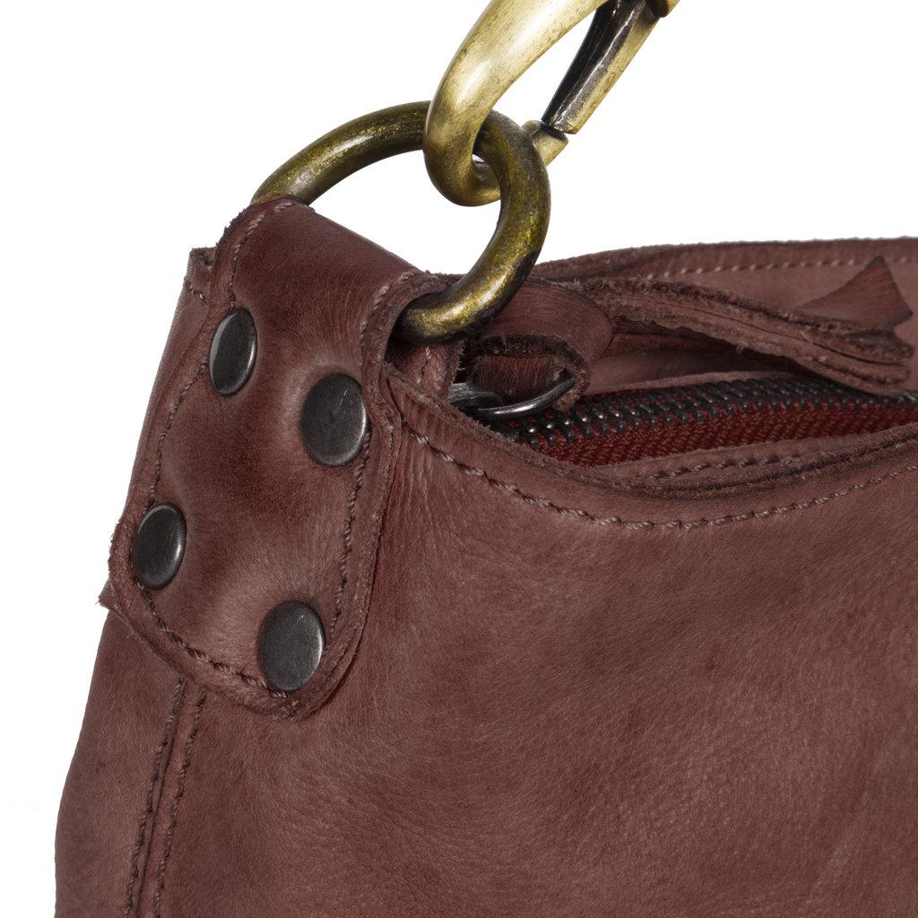 Saira Big Top Zip Handbag Brown