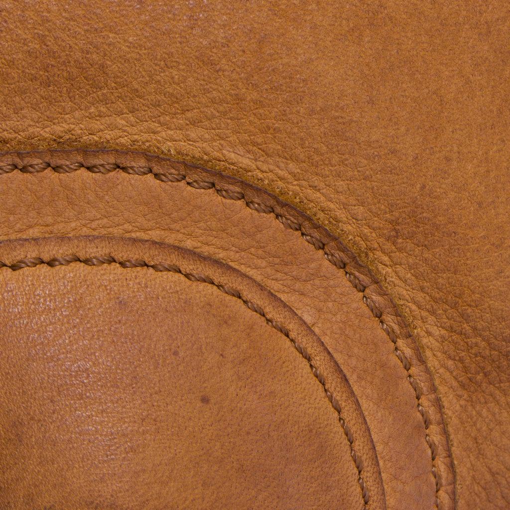 Saira Big Top Zip Handbag Cognac
