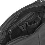 Saira Big Top Zip Handbag Black