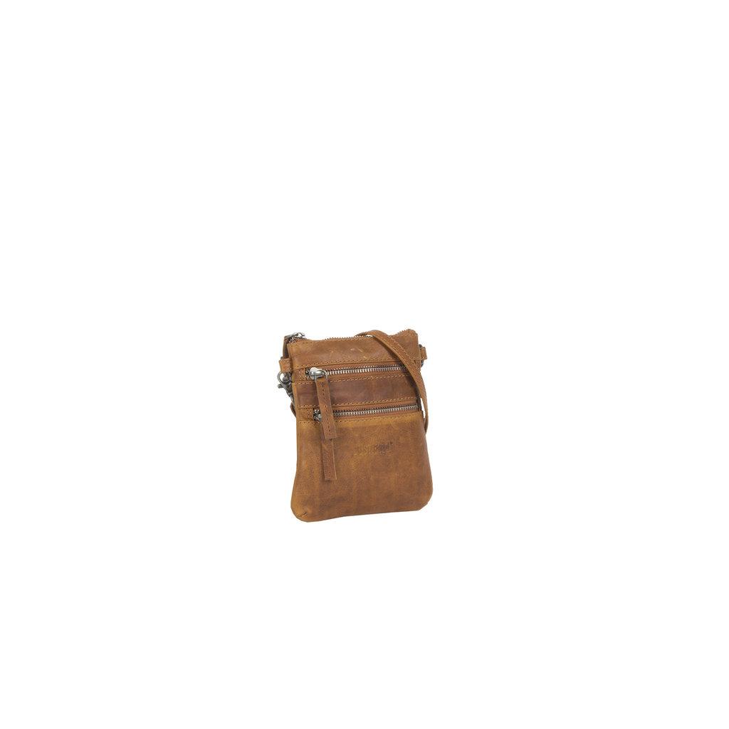 Justified Bags® Nynke Small Disco Schoudertas Cognac