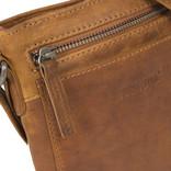Justified Bags® Nynke Top Zip Schoudertas Cognac