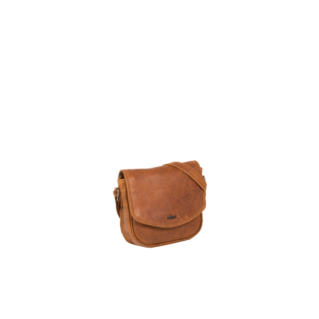 Justified Bags® Nynke Medium Flapover Schoudertas Cognac