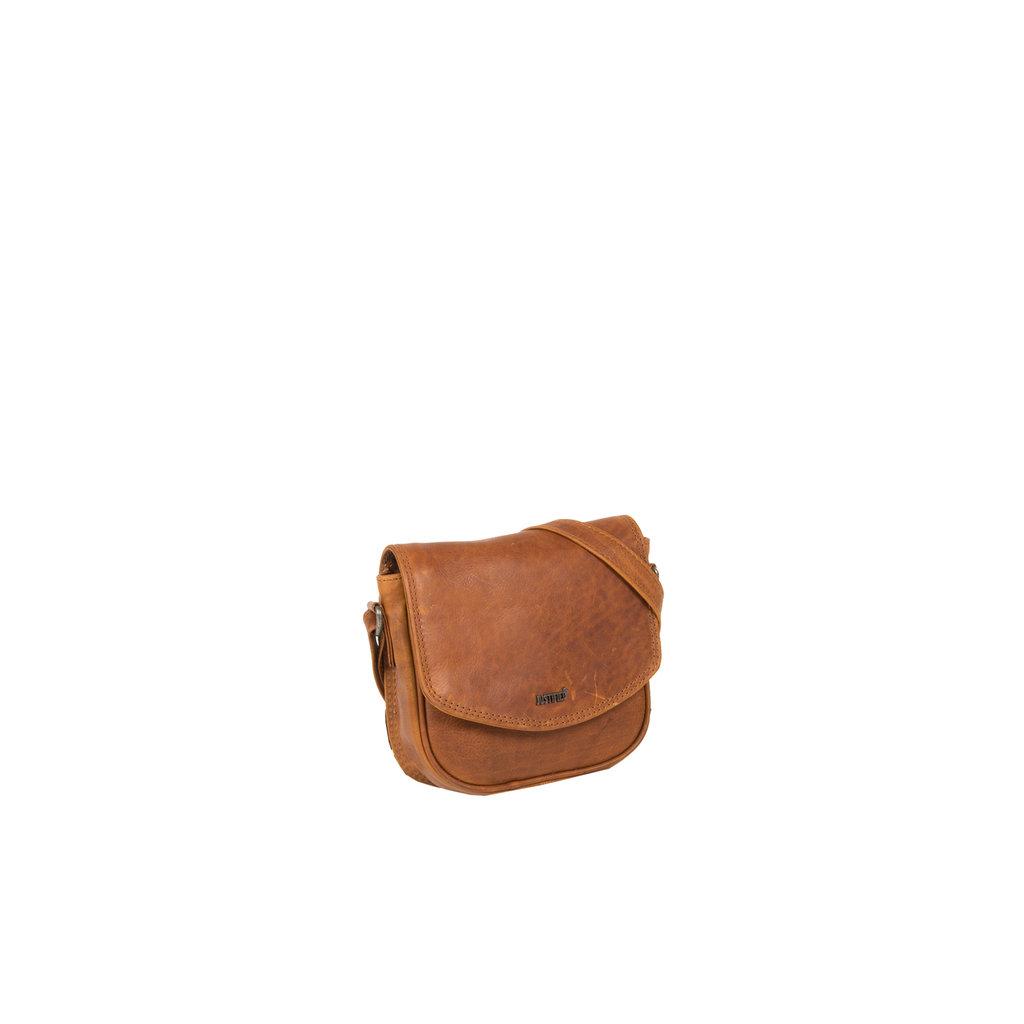 Justified Bags® Nynke Medium Flapover Shoulderbag Cognac