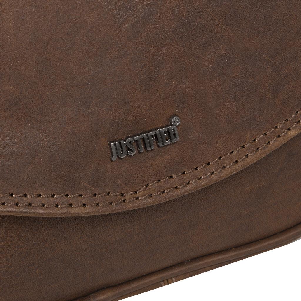 Justified Bags® Nynke Medium Flapover Schoudertas Bruin