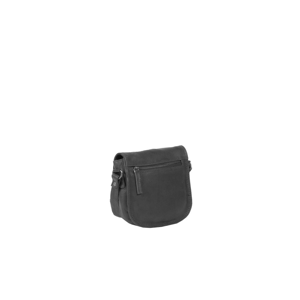 Justified Bags® Nynke Medium Flapover Schoudertas Zwart