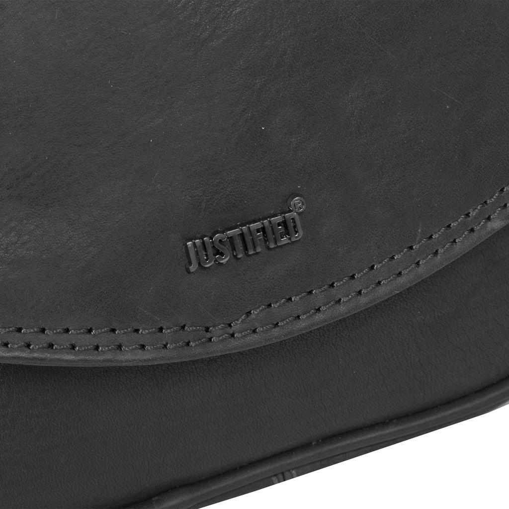 Justified Bags® Nynke Medium Flapover Shoulderbag Black