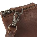 Justified Bags®  Nynke 3 compartimenten 1 Top Zip Schoudertas Bruin