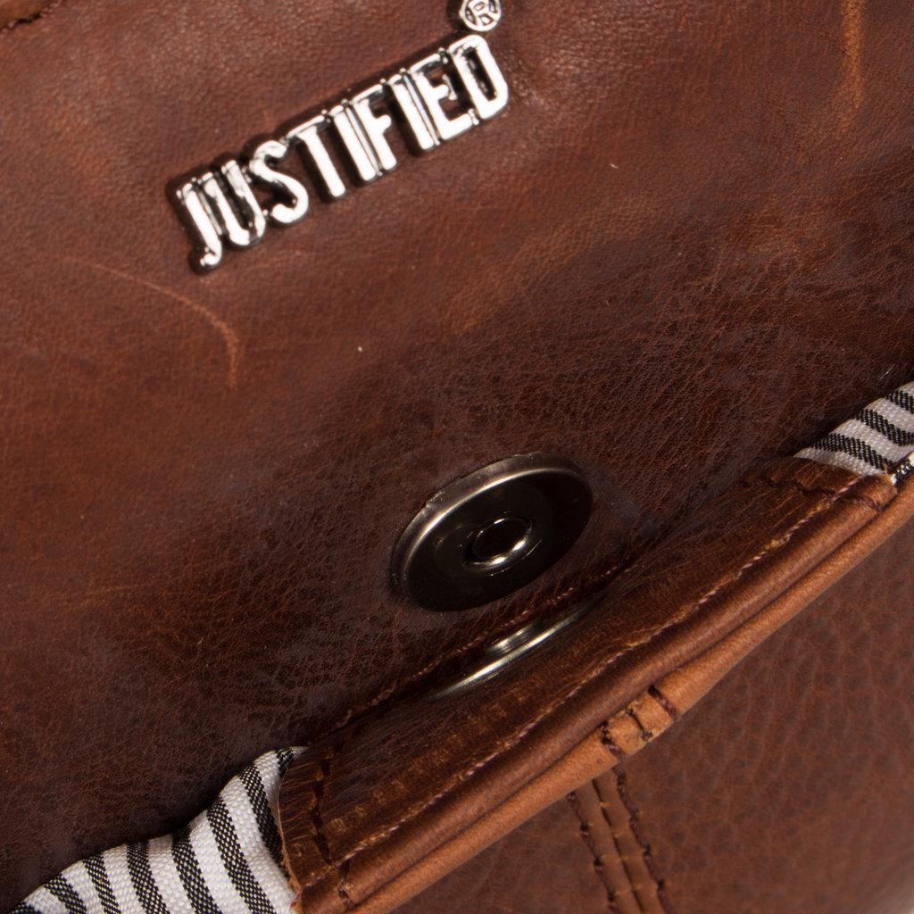 Justified Bags®  Nynke Long Square Schoudertas Bruin