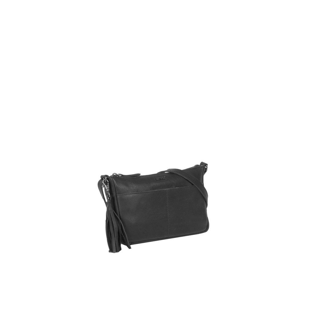 Justified Bags® Nynke Long Square Schoudertas Zwart