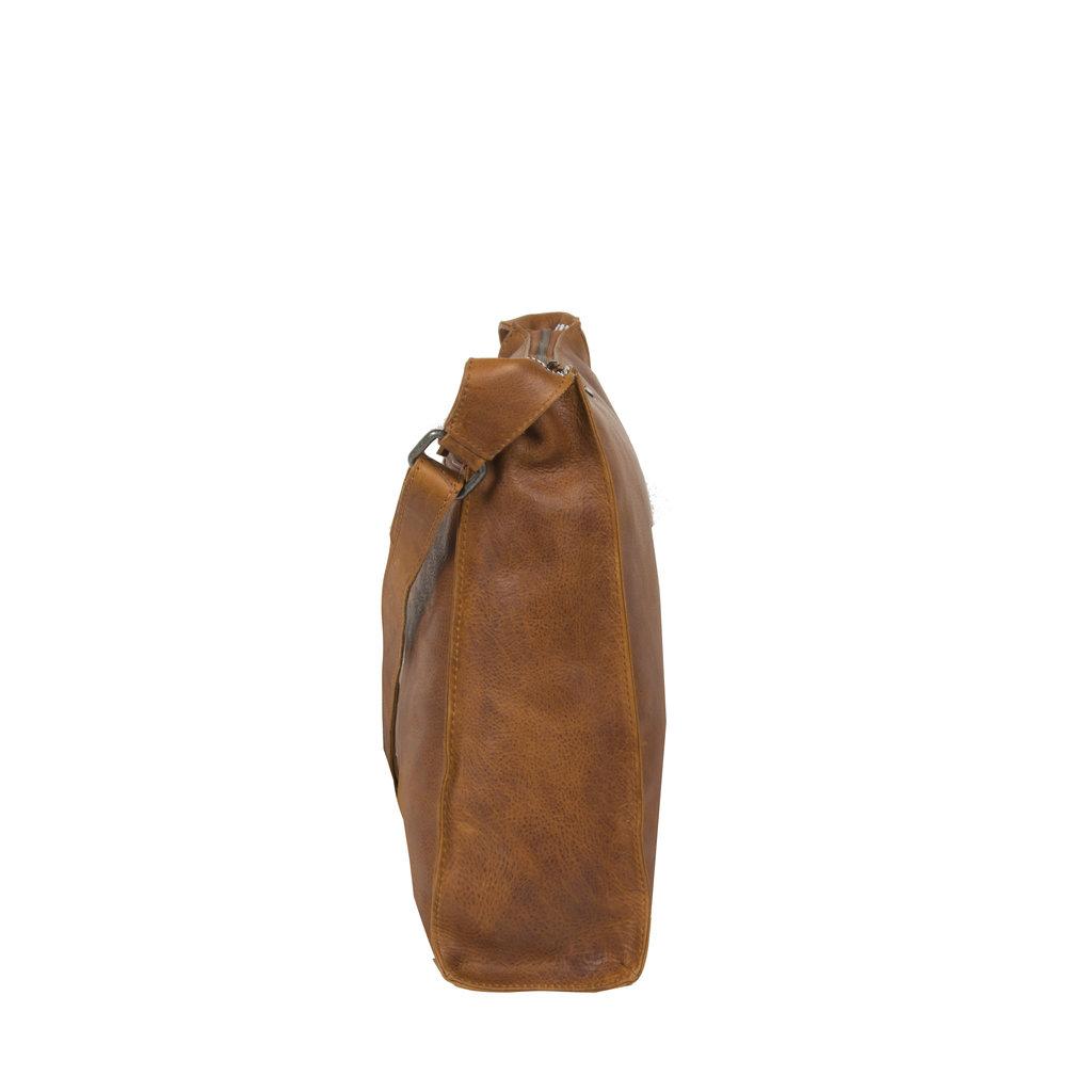 Justified Bags® Nynke Square Shoulderbag Cognac