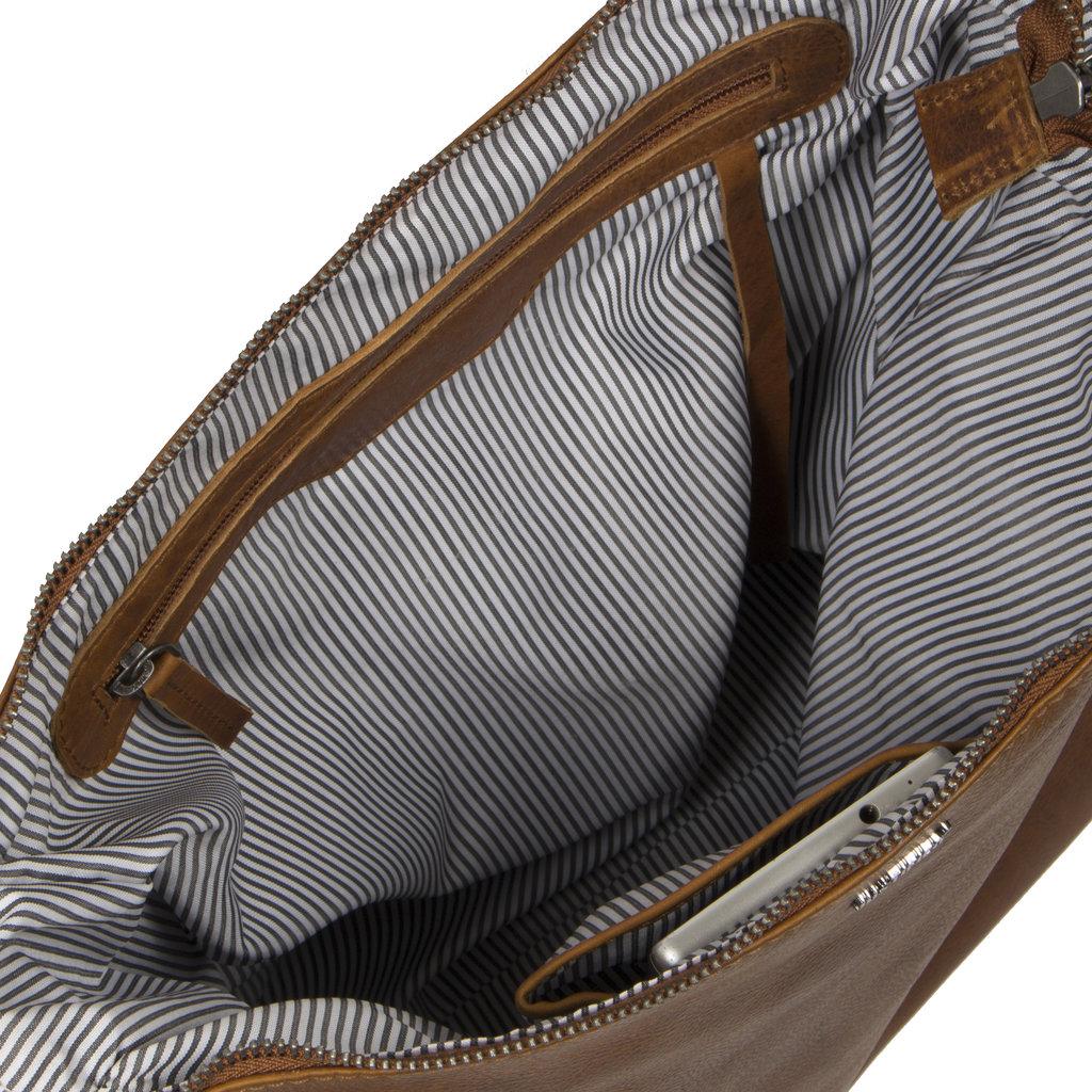 Justified Bags® Nynke Square Schoudertas Cognac