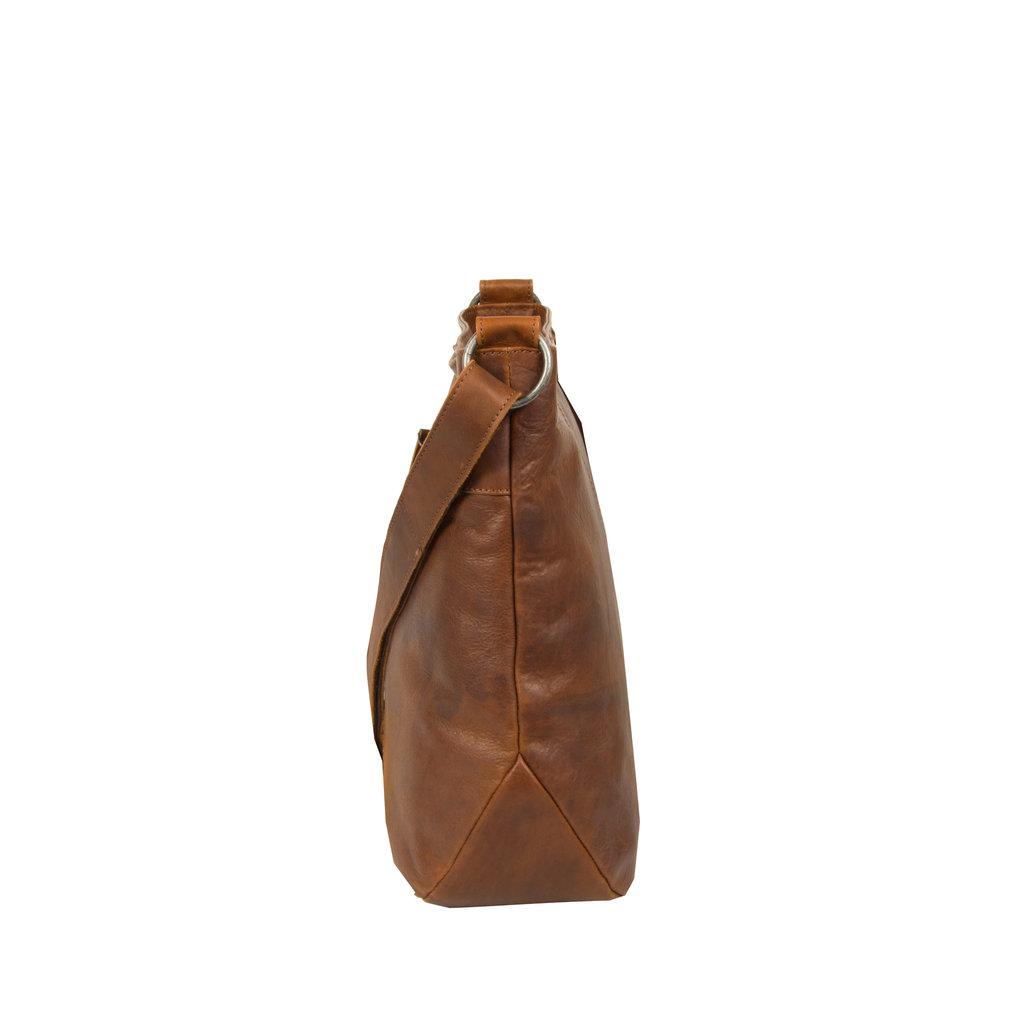 Justified Bags® Nynke Round Shoulderbag Cognac