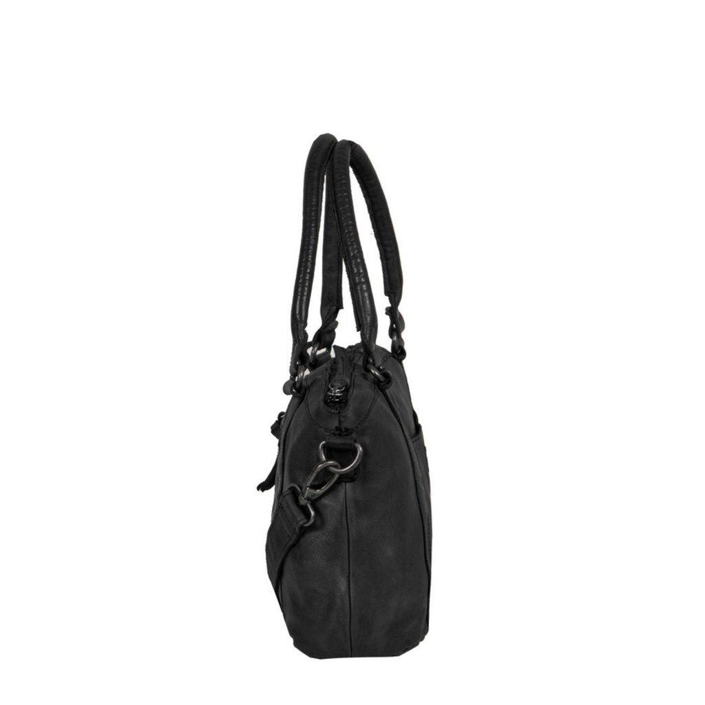 Leren shopper Saira black