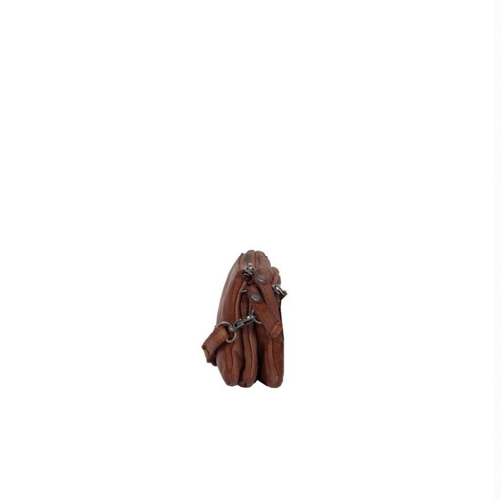Simone 3 Compartimenten Shoulderbag Brown II
