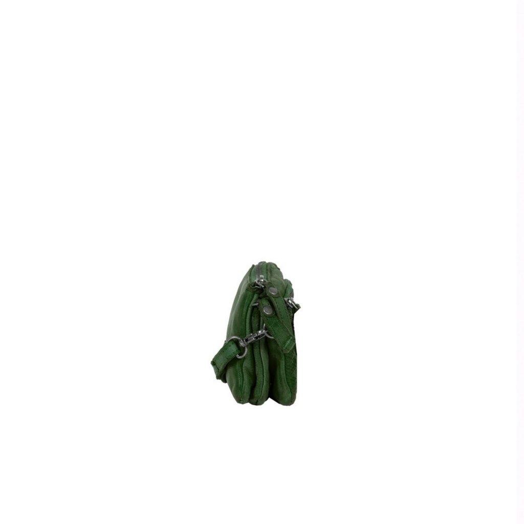 Simone 3 Compartimenten Shoulderbag Dark Green II