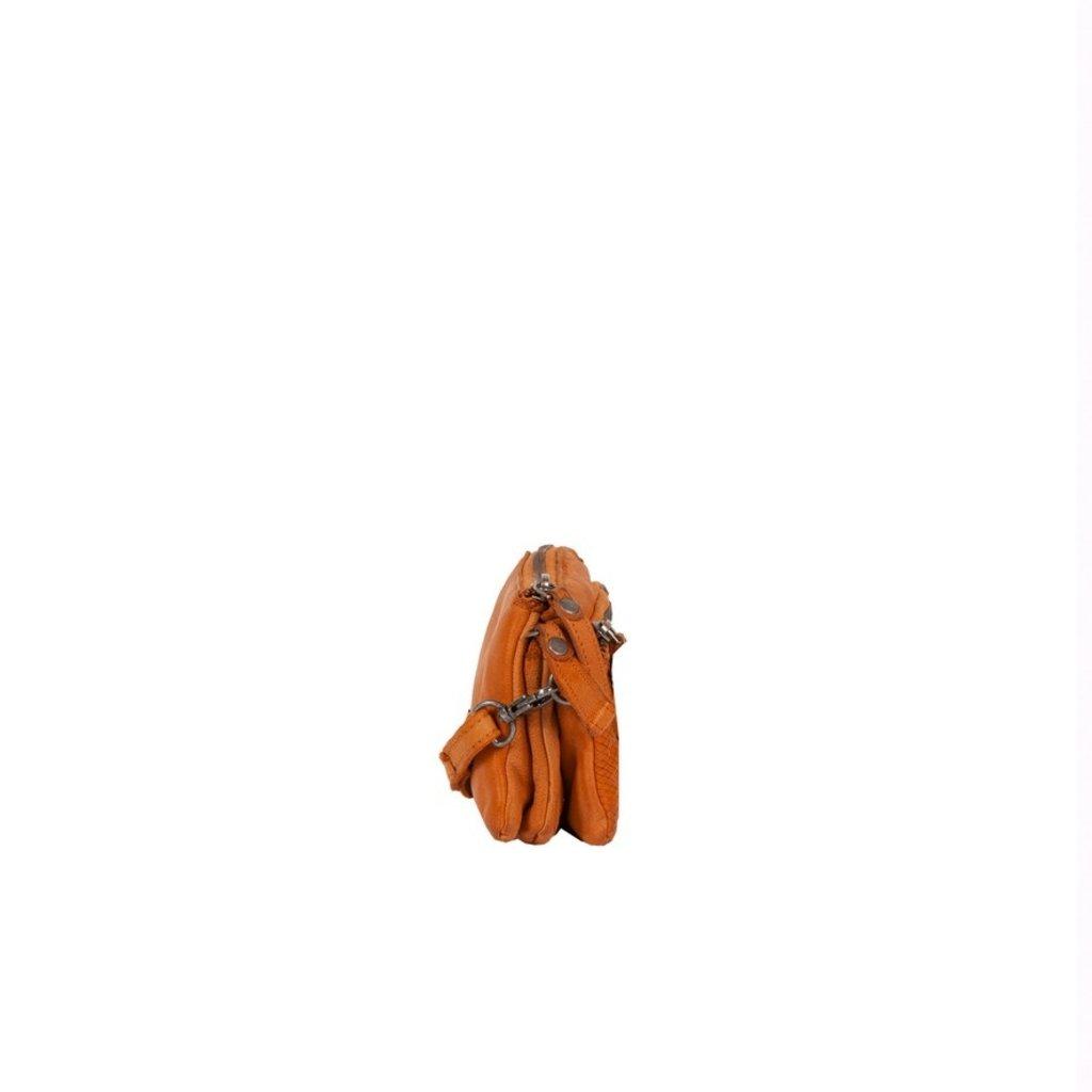Simone 3 Compartimenten Shoulderbag Cognac II